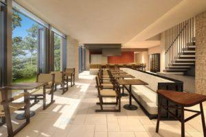 沖縄にあるリゾートホテルUMITO PLAGE The Atta Okinawaのフレンチダイニング